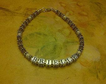Sterling Silver Alphabet Bead Name Bracelet, Mothers Bracelet, Custom Name Bracelet