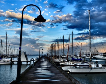 Williamstown Pier -Melbourne, Australia, Boats, Sails, Bayside, Clouds, Explore, Fine Art Photography, Williamstown