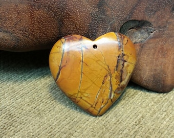 Warm Golden Tan Picasso Jasper Heart