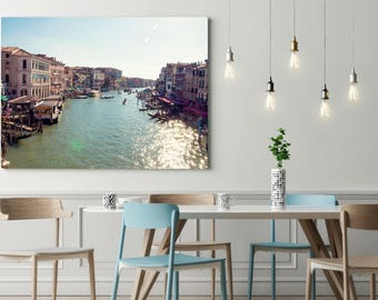 Grand Canal Venice Italy Picture, Prints, Home Decor, Gondola, Large Travel Print, Italy Photography, Rialto Bridge, Anniversary Gift