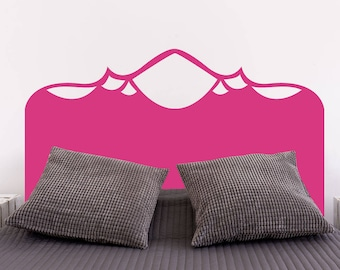 Regent Mountains Headboard | Bedroom Wall Decal Bed Headboard Modern Decal | Removable Vinyl Wall Sticker