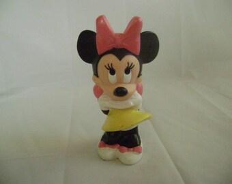 Vintage Minnie Mouse, Walt Disney Playschool Baby, Squeak Toy, Squeeze Toy, Soft Plastic, 1980's
