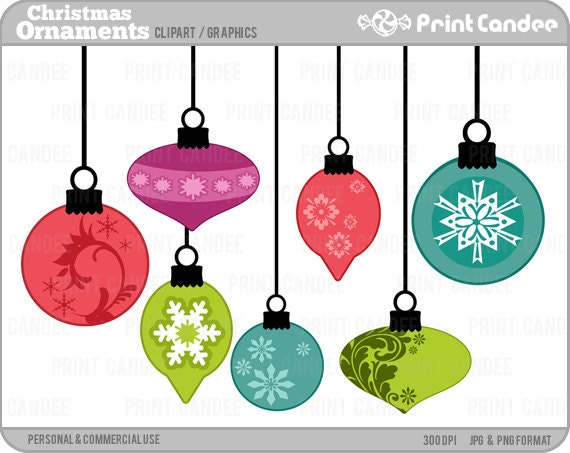 70 off sale christmas ornaments digital clip art rh etsy com ornaments clipart black and white ornaments clipart png