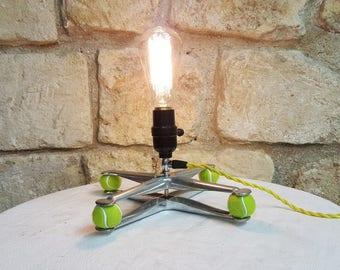 Vintage aluminium PRESS FRAME LAMP with Edison Bulb