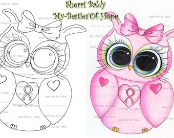 INSTANT DOWMLOAD Digital Digi Stamps Big Eye Big Head Dolls Digi  My Besties Bestie Oh Hope Owl Img916 By Sherri Baldy