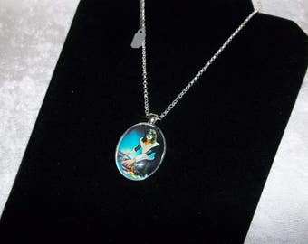 Kiss Space Ace Frehley Vintage Photo Pendant Silver Necklace