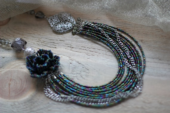 Perlen Muster Perlen Weben-Muster häkeln mit Perlen Halskette