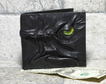 Leather Wallet Monster Face Fantasy Magic The Gathering Horror World Of Warcraft Zombie Fathers Day Gift Black 517