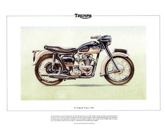 Triumph Tiger 100 Motor Bike Classic Motorcycle Print