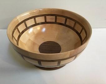 Maple/Walnut Segmented Bowl
