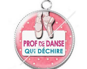 Pendant cabochon resin for a dance teacher 15