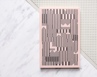 Pink notepad, to do list, A6 notepad, blank notepad, A6 jotter, pink jotter, gift girlfriend, gift teacher, gift wife, pink stationery