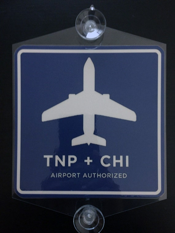 Removable tnp chi x sign rideshare chicago airport rear window stickers for cars chicago