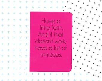 Blair Waldorf mimosa quote notebook in hot pink - Gossip Girl