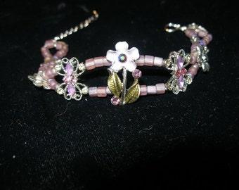 Bracelet fit for a princess Swarovski crystals, enamel, silver     etsyBead,  OlympiaEtsy, WWWG, paganteam, SupportingArtists,  Lush