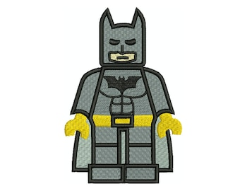 BATMAN Lego Machine Filled Embroidery - Instant Digital Download