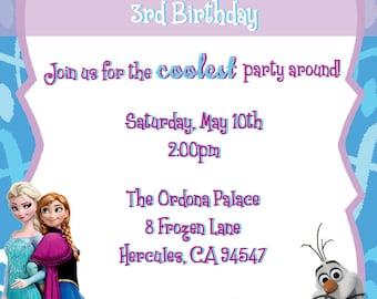 Frozen Party Invitation (DIGITAL FILE)