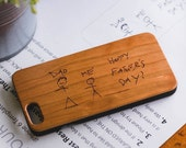Father's Day Gift, Custom Father's Day Gift, Wood iPhone Case, Best Dad Ever Gift Idea