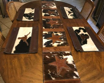 Cowhide Placemats (Set of 4)