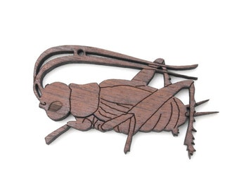 Cricket Ornament - Made in the USA with sustainably harvested wood! - Timber Green Woods, USA.
