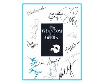 Phantom Of The Opera Signed Broadway Script Opening Nnight - Andrew Lloyd Webber, Michael Crawford, Sarah Brightman, Steve Barton