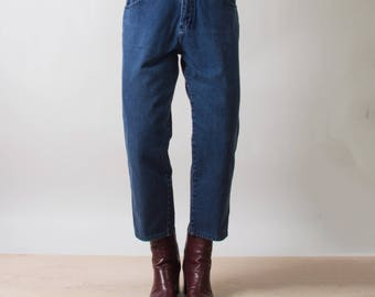 Vintage Cropped Straight Leg Jeans