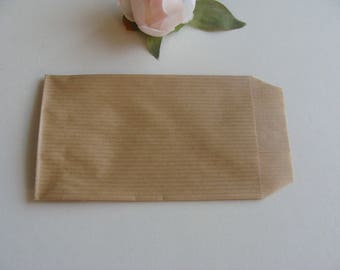 3 piece Brown kraft paper bag gift wrap nature 7 * 12 cm Brown background