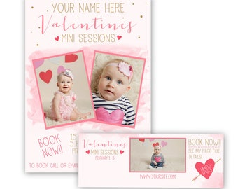 Valentines Day Mini Session Template, valentine mini sessions, photography marketing template, free facebook timeline template