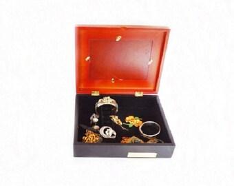 Vintage Jewelry Box, Jewelry Case, Jewelry Storage, Storage Box, Bedroom Decor, Elizabeth Taylor, White Diamonds, Ring Box, Photo Frame