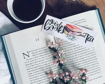 Good Books & Tea Bookmark