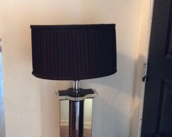 Lucite Brass Black Lamp