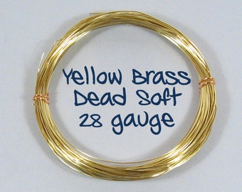 28ga DS Yellow Brass Wire - Choose Your Length