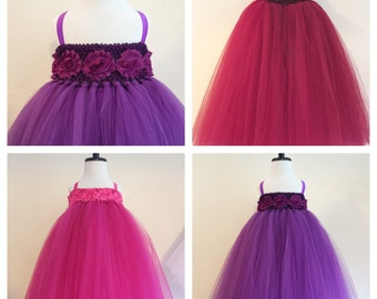 Tulle Flower Girl Dress, Empire Waist with Shabby Chic Flowers, Flower Girl Dress, Flower Sash