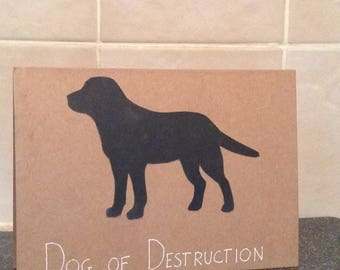 Dog of Destruction Greetings Card
