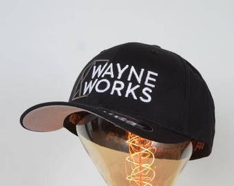 Wayne Works Logo Flex Fit Hat S/M