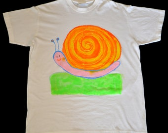 Hand painted T-Shirt Snail