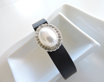 Fitbit Bracelet Jewelry ~ Fitbit Flex bracelet Jewelry Slide-on Accessory -Pearl Wrapped Bling FitBit Jewelry