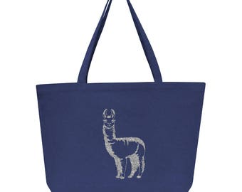 Llama Tote Bag, llama, cotton tote, llama bag, llama gift, gift for her, tote bag, bag, special gift, custom tote bag, custom bag, custom