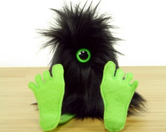 Nervous Nelly Plush Monster Toy- Black