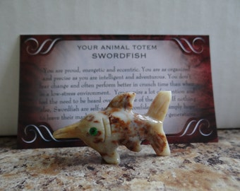 Hand Carved *SWORDFISH* Animal Spirit Totem for Spiritual Jewelry or Crafts