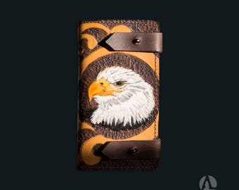 leather phone case handmade, stamped handtooled,just one available I phone 6 plus,