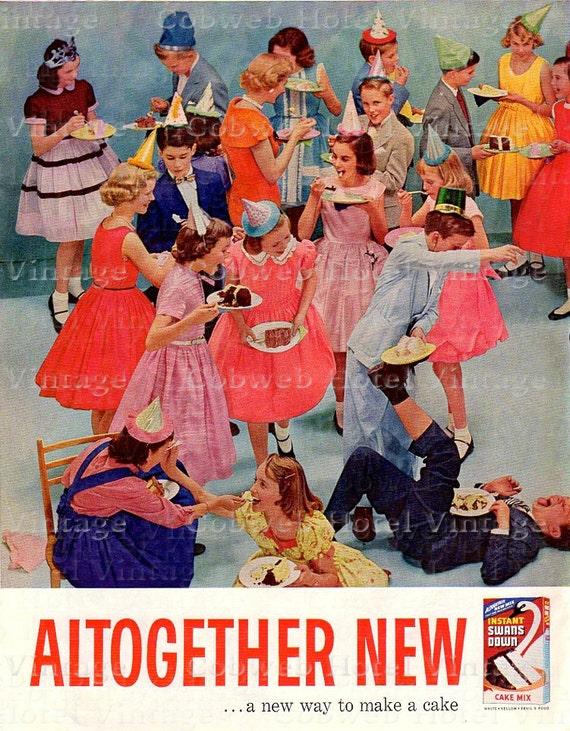 Digital Download Vintage Birthday Party Pre Teens 1960s Boys Girls