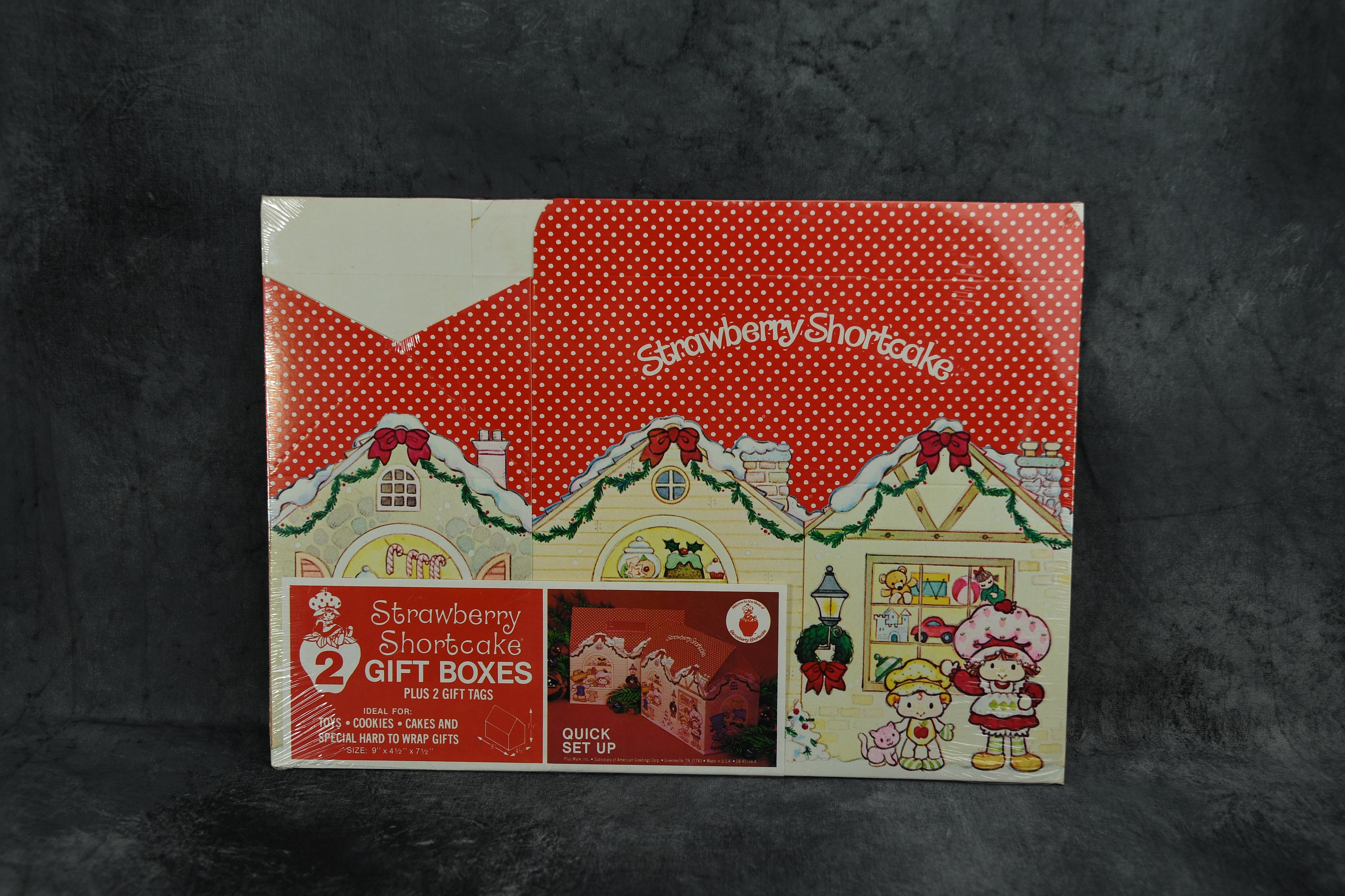 Vintage strawberry shortcake holiday gift boxes two 2 per zoom m4hsunfo