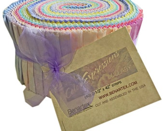 "Benartex Lullaby Bali Batiks Pinwheel 2.5"" Precut Fabric Quilting Cotton Strips Jelly Roll"