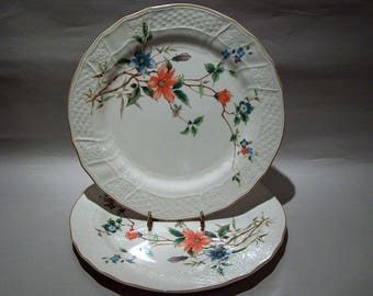 "8467: Mikasa Renaissance Monique SET 2 Dinner Plates 11"" Vintage Fine China Dinnerware at Vintageway Furniture"