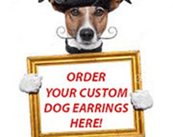Custom Dog Puppy Doggie Doggy Pup Earrings Pet Jewelry