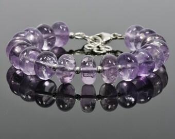 Amethyst Bracelet, Lavender Amethyst Gemstone, February Birthstone, Gemstone Bracelet, Handmade Jewelry, Gemstone Jewelry, mothers day