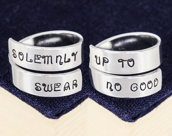 Solemnly Swear Up to no Good Ring Set - Valentines Day Gift
