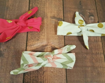 Knot Bows, Baby headbands, Infant Hair Accessories