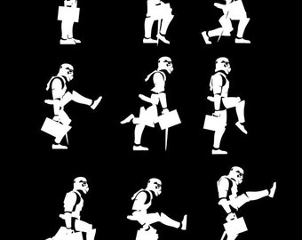 Ministry of Silly Space Troops Walks - Funny mens womens Monty Python tshirt